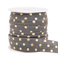 Elastic ribbon dots Grey