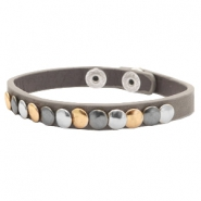 Ready-made Bracelets with studs Grey