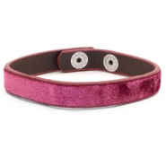 Ready-made Bracelets velvet Dark Pink