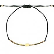 Ready-made Bracelets rectangle with Miyuki beads Gold