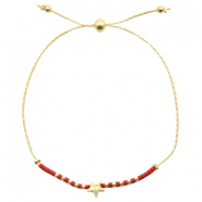 Ready-made bracelets with star Red-Gold