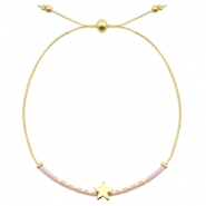 Ready-made bracelets with star Lavender Purple-Gold