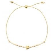 Ready-made bracelets with star Off White-Gold