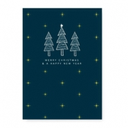"Jewellery cards ""Merry Christmas & a happy New Year"" Green"
