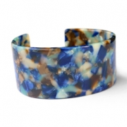 Ready-made Bracelets resin Blue Mix