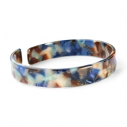 Ready-made Bracelets resin loose fit Blue Mix