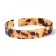 Ready-made Bracelets resin loose fit Cognac Brown