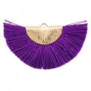 Tassels charm Gold-Purple