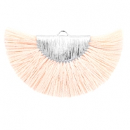 Tassels charm Silver-Light Peach