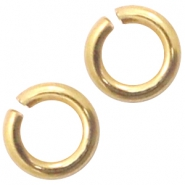 DQ European metal findings jump ring 3mm Gold (nickel free)