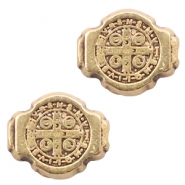 DQ European metal beads Jesus 8x10mm Antique Bronze (nickel free)