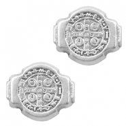 DQ European metal beads Jesus 8x10mm Antique Silver (nickel free)