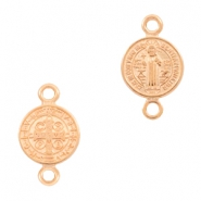 DQ European metal charms connector Jesus 10mm Rose Gold (nickel free)