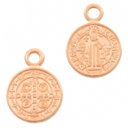 DQ European metal charms Jesus 9mm Rose Gold (nickel free)