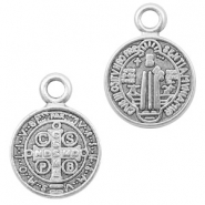 DQ European metal charms Jesus 9mm Antique Silver (nickel free)