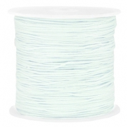 Macramé bead cord 0.8mm Light Dusk Blue