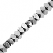 Hematite beads faceted disc Silver Grey