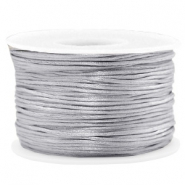 Macramé bead cord 1.5mm satin Light Grey