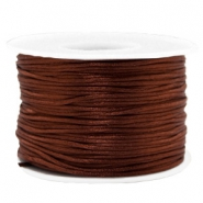 Macramé bead cord 1.5mm satin Chocolate Brown