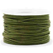 Waxed cord 1.5mm Army Green