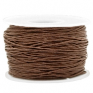 Waxed cord 1mm Chocolate Brown