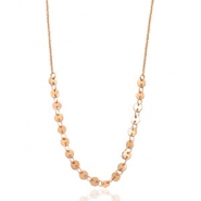 Stainless steel necklaces coin Rose Gold