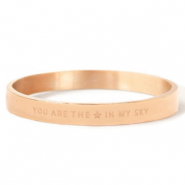 "Stainless steel bracelets ""YOU ARE MY STAR IN THE SKY"" Rose Gold"