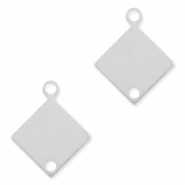 925 Silver charms/connector rhombus Silver