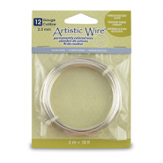 Artistic Wire 12 Gauge Tarnish Resistant Silver