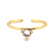 Must-have rings one stone Gold-Crystal (nickel free)