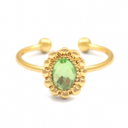 Must-have entourage rings Gold-Green (nickel free)