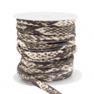 Stitched elastic ribbon snake Brown