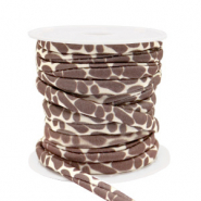 Stitched elastic ribbon giraffe Brown-Beige
