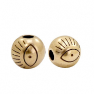 DQ European metal beads with eye 6mm Antik Bronze (nickel free)