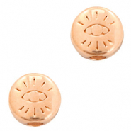 DQ European metal beads with eye 6mm Rose Gold (nickel free)