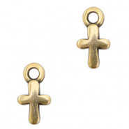 DQ European metal charms cross Antik Bronze (nickel free)