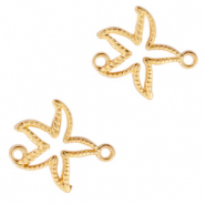 DQ European metal charms connector seastar Gold (nickel free)
