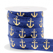 Elastic ribbon anchor Dark Blue-Gold