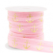 Elastic ribbon anchor Vintage Pink-Gold