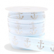 Elastic ribbon anchor Light Blue-Silver