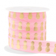 Elastic ribbon pineapple Vintage Pink-Gold