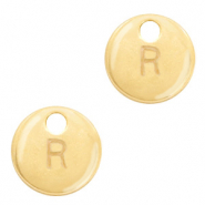 Metal charms initial R Gold (nickel free)