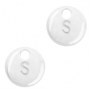 Metal charms initial S Antique Silver (nickel free)