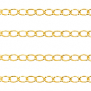 DQ European metal findings belcher chain 2.6mm Gold (nickel free)