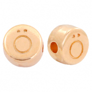 DQ European metal letter beads Ö Rose Gold (nickel free)