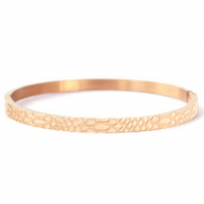 Stainless steel bracelets snake Rose Gold
