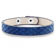 Ready-made bracelets snake Dark Blue