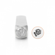 ImpressArt design stamps dapping block 6mm Silver