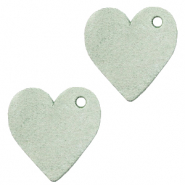 DQ European leather charms heart Meadow Green