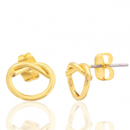 DQ European metal findings earrings knot Gold (nickel free)